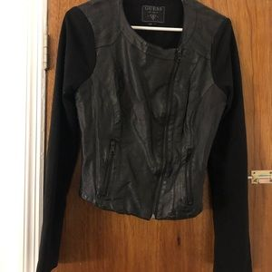 Guess Faux Leather Jacket Black Women's Large